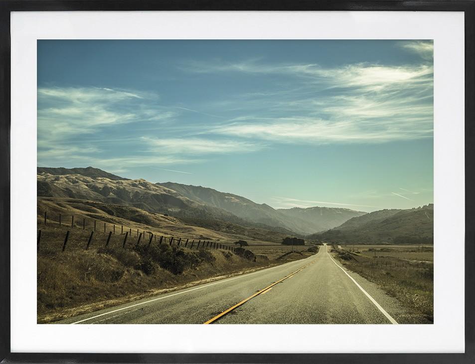 US Highway - Unik kunst plakat