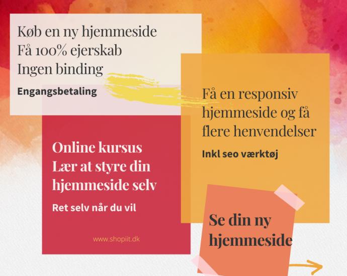 Køb en ny hjemmeside Shopiit.dk